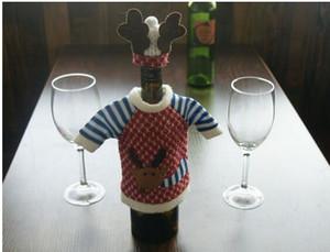 Cuisine Rouge Vin De Couverture De Bouteille Sacs Dîner De Noël Table Décoration Home Party Décors Père Noël Fournisseur De Noël EIK Cadeau