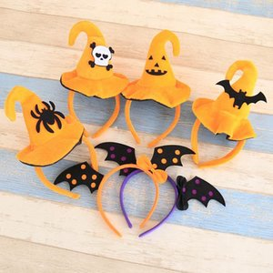 Halloween Headbands Hair Band Children and Adult Hair Accessories Pumpkin Hat Cobweb Hat Kids Party Headwear Hair Sticks Clasp F20171950