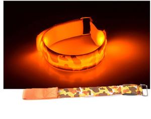 Brilho LED correndo pulseira de segurança ao ar livre esportes de alerta pulseira flash de ciclismo luz reflexiva braçadeira 3 modos