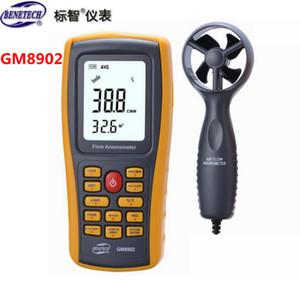 Toptan-Benetech GM8902 Dijital Anemometre Rüzgar Hızı Test Cihazı 0.3 ~ 45m / s USB El Arayüzü ile Hava Akış Test Cihazı Sıcaklık Monitör