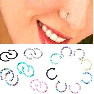 1 unids Fake Lip Ring C Clip 8 MM Nariz Kylie labio Piercing Falso Nariz Anillos Aro para Mujeres Joyería del cuerpo Envío de la gota