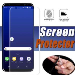 3D Kavisli Tam Kapak Kapsama Için Yumuşak TPU Ekran Koruyucu Film Samsung Galaxy S10 Lite S9 S8 Artı Not 9 8 A3 A5 A7 C5 C7 C8 C9 Pro J5 J7