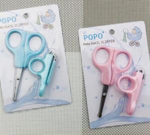Belle Nail Clipper pour bébé Mini bébé Soins / Pratique quotidien Bébé ongles Soins de sécurité ongles Cutter Trimmer Ciseaux Rose Bleu