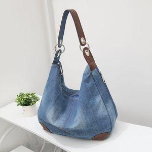 Большие джинсовые женские сумки женская сумка большой Бродяга кошельки и сумки Жан Shopper тотализатор роскошные дизайнерская сумка Crossbody сумка