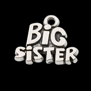 Fashion Vintage Family Alloy Charms Big Sister Shape Jewelry Making Charms Wholesale AAC111