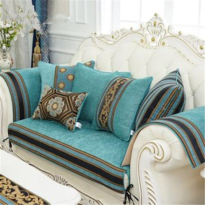 Luxo europeu clássico chenille jacquard Almofada Tampa Pillowcase Sofá / Car / Pillow Home Textiles Supplies Destaque