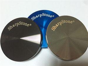 CNC SharpStone Herb Grinder Alliage de zinc 2 Pièces Hard top Tobacco Grinder Sharp Pierre Herb Grinders Diamètre 55mm Smoke Grinder