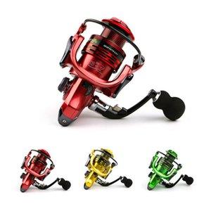 13 + 1BB Metal Head Boat Fishing Spinning Reel XF3000 4000 Serie 5000 Gear Ratio 5.5: 1 EVA Handle 3 Colores Rojo Verde Dorado
