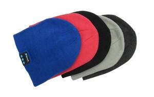 Wholesale New Fashion Beanie Hat Cap Wireless Bluetooth Earphone Smart Headset headphone Speaker Mic Winter Outdoor Sport Stereo Music Hat