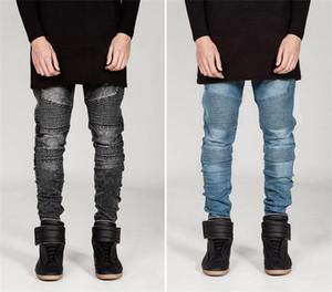 Nuovi jeans VENDUTA per pantaloni da uomo modelli uomini di moda famoso Desginer Streetwear strappati cerniera Demin Pantaloni Uomo Abbigliamento
