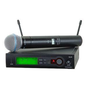 Top Quality SLX4 SLX24 SINGOLO SINGOLO MICROFONO MICROFONO SINGOLE BETA58 58A UHF Microfono professionale Karaoke gratuito