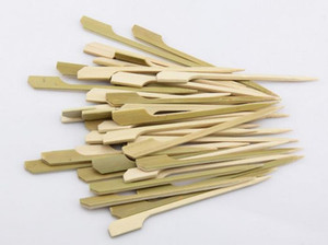 2000 Pcs 10.5cm Natural Bamboo Picks Skewers for BBQ Appetizer Snack Cocktail Grill Kebab Barbeque Sticks Party Restaurant Supply Disposable