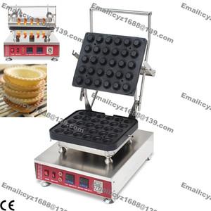 Ücretsiz Kargo Ticari Yapışmaz 110 V 220 V Elektrikli 30 adet Mini Yumurta Tartlet Pie Baker Maker Makinesi ile Değiştirilebilir Kalıp Plaka