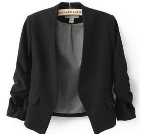 New Spring 2016 Tops Blazer Frauen-Süßigkeit Mantel Kurz Jacken-Oberbekleidung Mäntel Jacken Kein Knopf Blazer Grund Klage-freies Verschiffen