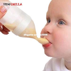 سيليكون رضاعة الطفل مع ملعقة المكملات الغذائية رايس الحبوب زجاجة الطفل ضغط ملعقة السيليكا جل ملعقة BB0065