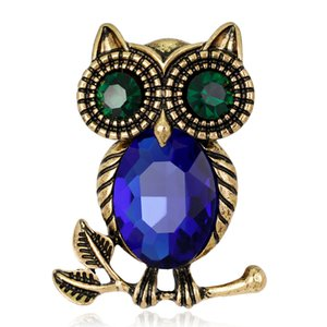 Acessórios lindo Crystal Fashion Alloy AntiGold banhado coruja jóias broche colar coreano Moda Birthday Girl Broche presente