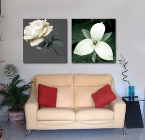 Moderna Bela Flor Pintura Giclee Impressão Na Lona Decoração Da Parede Home Art Set20125
