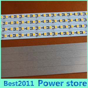 슈퍼 밝은 하드 리지드 바 빛 DC12V 100cm 72led SMD 5050 알루미늄 합금 PCB Led 스트립 조명 캐비닛 쥬얼리 디스플레이