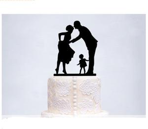 Wedding Cake Cake Acrilico Topper High-End Double Sugar Cake Wedding Card Romantica torta nuziale Decorazione torta di compleanno