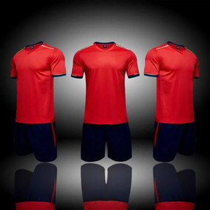 Top 2018 Custom Blank Team Soccer Jerseys Sets, Tops de fútbol personalizados con Shorts, Training Jersey Short, Sets de moda, uniforme de fútbol