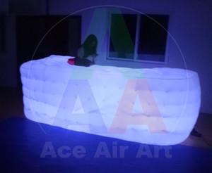 بيضاء جميلة شريط خيمة نفخ لشريط مع إضاءة الصمام