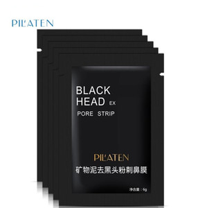 Pilaten Facial Black Mask Face Care Nose Acne Blackhead Remover Minerals Pore Cleanser Mask Black Head Strip maquiagem