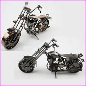 Estilo americano hecho a mano del arte del hierro del arte del metal Harley modelo de la motocicleta de juguete modelos de moto juguetes oficina en casa decoración de la barra de recuerdos