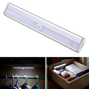 Lumière de capteur de mouvement sans fil Stick-On portable alimenté par batterie 10 Cabinet de placard LED Lumière de nuit LED Lumière d'escalier Lumière de mur d'éclairage