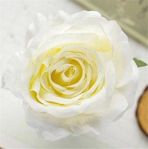 """Seda primavera cabeza de Rose del Dia. 9 cm / 3.54"""" 30Pcs rosas artificiales Peony por DIY ramo de novia tocado de flores muñeca Accesorios"""
