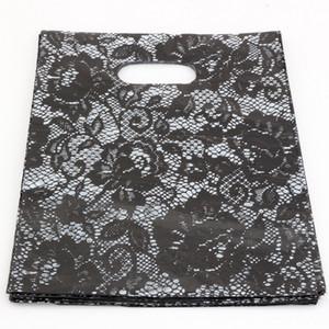 ¡Venta caliente! Bolsas de joyería .200pcs 20x25cm bolsa de regalo de la joyería de las bolsas de plástico negras de encaje.