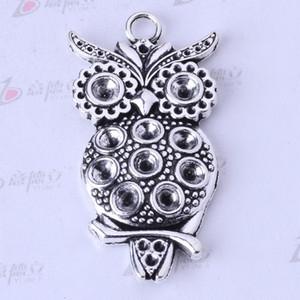 Owl charms antique Silver bronze Pendant DIY 47*22mm jewelry pendant fit Bracelets or Necklace 35pcs lot 3331
