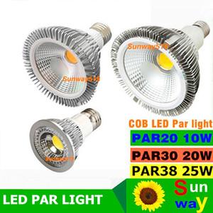 2016 NUEVO COB regulable LED bombilla PAR38 PAR30 PAR20 10W 85-265V 20W 25W E27 E26 Par de luz LED downlight de la luz de iluminación de la lámpara Spot