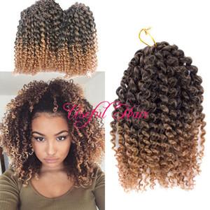 HOT SELL MALIBOB 8INCH BLONDE MARLYBOB 3Pcs Lot AFRO KINKY CURLY HAIR OMBRE mali bob hair extensions SYNTHETIC BARIDING HAIR crochet braids