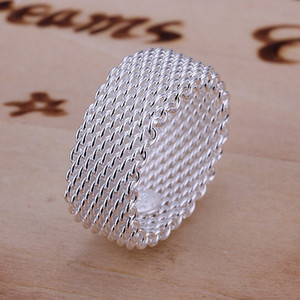 Venda quente Network Sterling Silver Ring GR040, Mulheres 925 Silver Rrings Band Rings
