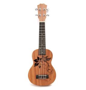 """21 """"Mini Sapele Ukulélé Ukelele Palissandre Guitare Manche Acajou Cou Délicat Tuning Peg Nylon Ficelle Matte Enfants Cadeau"""