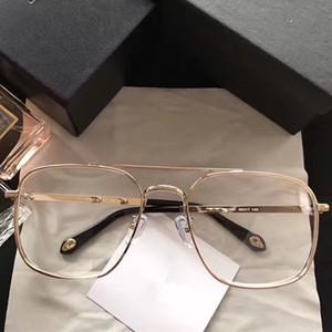 Luxo Popular 7033 Óculos de Moda Das Mulheres Dos Homens Designer de Estilo Quadrado Retro Full Frame de Alta Qualidade Preto de Prata de Ouro Livre Vem Com o Caso