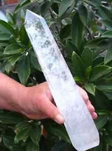 Schlussverkauf! NATÜRLICH klare weiße Quarzkristallpunktheilung