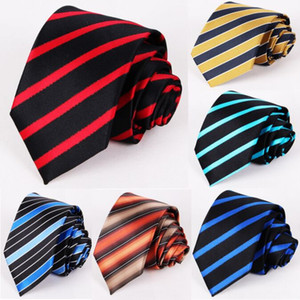 Grid neck tie 11 colors Stripe Neck Tie 145*7.5cm Jacquard for Men's Wedding Party Father's Day Christmas gift Free TNT Fedex