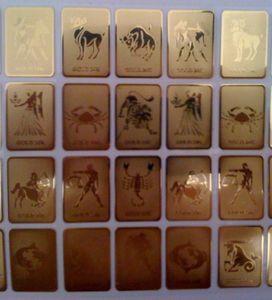 Comercio al por mayor 24 K zodiaco de oro teléfono móvil etiqueta anti radiación 12 constelación anti radiación escudo Bio Energy Sticker 10 unids shiping libre