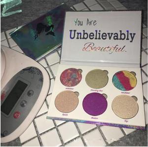 NOVA Sereia Maquiagem Love Luxe Beleza Fantasy Palette Você é inacreditavelmente bela Highlighter Palette 6Color Sombra Cosméticos Eye Shadow