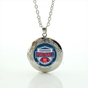 De lujo más nuevo collar de medallón de joyería de cabujón de cristal Más nueva mezcla 32 equipo de deporte accesorio de regalo para amigo femenino amigo masculinoNF043