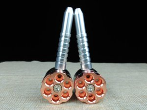 Großhandel Günstige Best Revolver Kammer Tabaktrocken Grinder Bullet Teile Metallgewehrkugel formte Rauchpfeifen zum Verkauf Kostenlose Shiipping