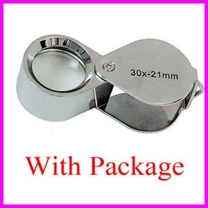 Neue Mini 30x30x21mm Lupe Lupe Triplet Jewelers Augenglas Schmuck Diamant Mikroskop Tasche Lupen Kostenloser Versand