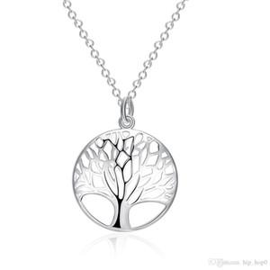 Árvore da vida colar de pingente de moda requintada clássico colar de prata 925 jóias de prata esterlina para a senhora festa de casamento acessório de noivado