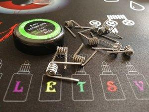Las bobinas Tsuka Clapton planas prefabricadas 0.3 * 0.8 FLAT + 0.1 * 0.5 FLAT 0.3ohm prefabricadas enrollan los cables de calefacción precompilados para vape rda