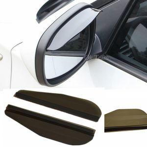 유니버셜 2pcs 자동차 백미러 미러 비 블레이드 자동차 백 미러 눈썹 비가 커버 비 방패 그늘 워터 가드 자동차 스티커