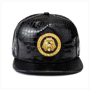 Yeni Altın Mısır Firavunu Beyzbol Şapkası PU Deri Hip Hop Punk Tarzı Düz Kenarlı Snapback Şapka Erkek Kadın Serin Boy Moda Caps