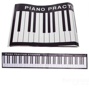 88 Keys Piano Practice Keyboard Sticker On Desk Exercises