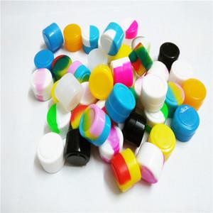 200 X colori assortiti non Vasi silicone Stick Oil Dab Cera Contenitore Concentrato Shatter Proof Nuovo 2ml Cera idromassaggio
