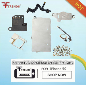 Komplettsatz Ersatzteile für iPhone 5S LCD Display Touchscreen Digitizer Baugruppe mit Home Button Frontkamera Komplettsatz Schrauben Ersatzteile